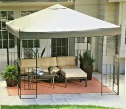 10-ft x 10-ft Patio Garden Outdoor Gazebo with Steel Frame a