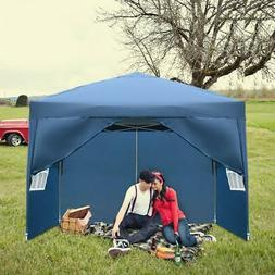 10'x 10' Blue EZ Pop UP Party Tent Patio Event Canopy Gazebo