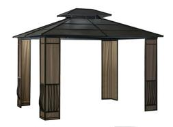 10 x 12 Heavy Duty Galvanized Steel Hardtop Wyndham Gazebo w