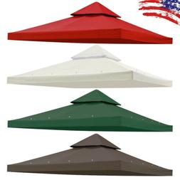 10'x10' Gazebo Canopy Replacement Top Cover for 2 Tier Outdo