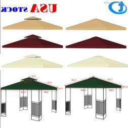 Gazebo Canopy Top Replacement 1~2 Tier Patio Outdoor Sunshad
