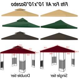 10'x10' Gazebo Canopy Top Replacement 1/2 Tier Patio Outdoor