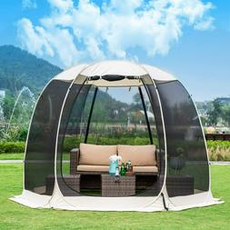10'x10' Gazebos for Patios Screen House Room 4-6 Person Cano