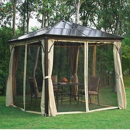 10'x10' Outdoor Patio Canopy Party Gazebo Shelter Hardtop w/