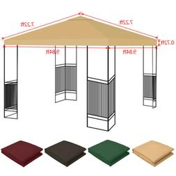 10'x10' Waterproof Gazebo Top Replacement Canopy Sunshade Pa