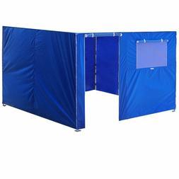 10x10 Blue Zipper Side Walls Kit Panel For Outdoor EZ Pop Up
