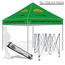 10X10 Outdoor Custom Logo Art Printed Pop Up Canopy Party Tr