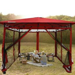 Quictent 10x10 Patio Gazebo Canopy Softtop with Netting for