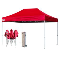 10X15 Red EZ Pop Up Canopy Party Market Trade Show Tent Inst