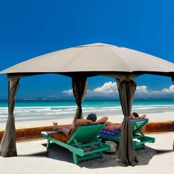 11.5 x 11.5 Fully Enclosed Curtain Outdoor Gazebo Canopy wit