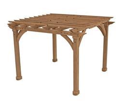 Yardistry 12' x 12' Cedar Wood Outdoor Pergola 100% FSC, N