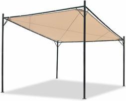 12 x 12 Sunshade Gazebo Canopy Charcoal Carbon Steel Frame W