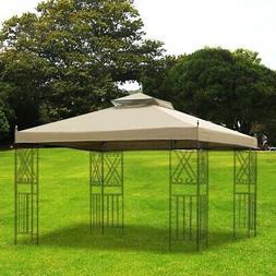 10x12 ft Gazebo Canopy Top Replacement 2 Tier Patio Garden U