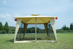 12x12 Patio Metal Gazebo 2-Tier Yard Garden Canopy Party Ten