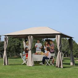 Outsunny 13' x 10' Steel Outdoor Patio Gazebo Pavilion Canop