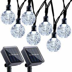 2 Pack Globe Solar String Lights 20ft 30 LED Fairy Outdoor F