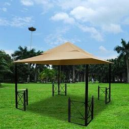 2 Tier 12.8'x10.7' Patio Gazebo Canopy Top Replacement for S