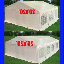 20'x20', 26'x20' PE Party Tent w Waterproof Top - Wedding Ga