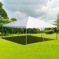 Event Party 20' x 20' Frame Tent Canopy White PVC West Coast
