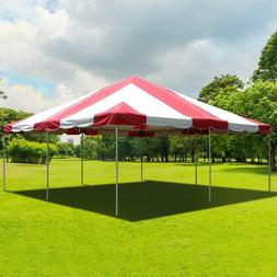 Event Party 20x20' Frame Tent Canopy Red White PVC West Coas