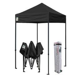 5x5 Black Outdoor Gazebo Commercial Instant Folding Patio Ca