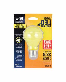 Feit Electric 60W Equivalent- Yellow-Colored A19 LED Bug Lig