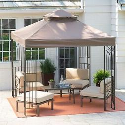 8 ft x 8 ft Gazebo with Top Vent Canopy Steel Metal Frame Al
