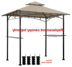 8'x 5' Canopy Double Tiere Replacement Roof Only Grill Gazeb