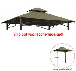 8'x 5' Grill Gazebo Barbecue BBQ Canopy Double Tiere Replace
