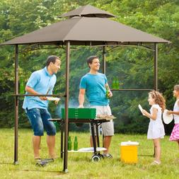 8' x 5' Outdoor Barbecue Grill Gazebo Canopy Tent BBQ Shelte