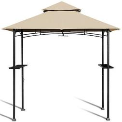 8' x 5' Outdoor Patio Barbecue Grill Gazebo w/ LED Light