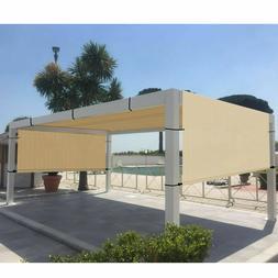 8' x 9' Outdoor Pergola Gazebo with Sun Shades, Patio Steel