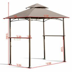 8'X5' Outdoor Barbecue Grill Gazebo Canopy Tent Patio BBQ Sh