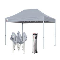 8x12 Gray Pop Up Canopy Commercial Outdoor Instant Sunshade