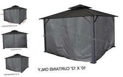 APEX GARDEN Universal Privacy Curtain Set for 10' x 12' Gaze