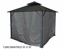 APEX GARDEN Universal Privacy Curtain Set for 10' x 10' Gaze