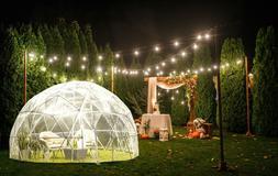 Backyard Igloo 11.75 ft x 7.2 ft Outdoor Garden Igloo Bubble