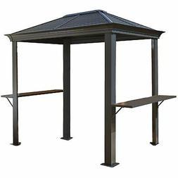 BBQ MYKONOS #93D gazebo 5'x8' steel roof