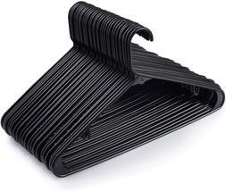 House Day Black Plastic Tubular Adult Hangers Light-Weight P
