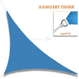blue sun shade sail permeable equilateral triangle