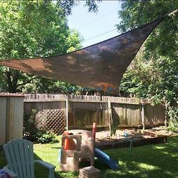 Brown Sun Shade Sail Permeable Equilateral Triangle Canopy P