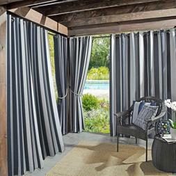 sun zero Cabana Stripe Curtain UV Protectant for Pergolas/Ga