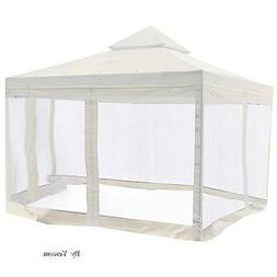 Canopy Gazebo Replacement Mosquito Net Zip Screen Top Sides