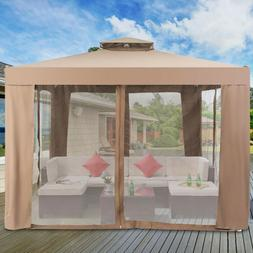 Canopy Gazebo Tent Shelter Garden Lawn Patio With Mosquito N