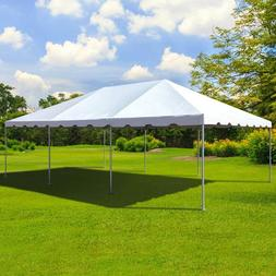 West Coast 20' x 30' Frame Tent Canopy White Waterproof Comm