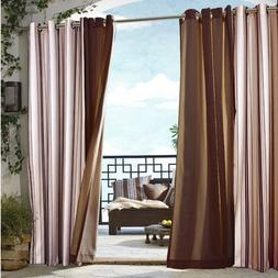 Outdoor De cor Gazebo Outdoor Stripe Grommet Top Curtain Sin