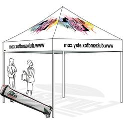 Custom LOGO Art Printed 10X10 Pop Up Canopy Outdoor Patio Ga