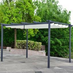 ALEKO DIY Aluminum Outdoor Retractable Gazebo Canopy Pergola