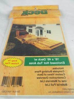 Do It Yourself Deck Plans, Building Plans, Material List,
