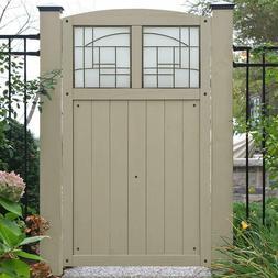 Yardistry Door Faux Window Acrylic Cedar Grey Stain Fence En